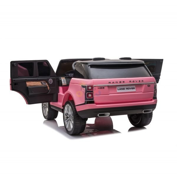 RANGE ROVER 2 SEAT RIDE ON CAR hse 2x12v rubber kids and toddlers pink 8