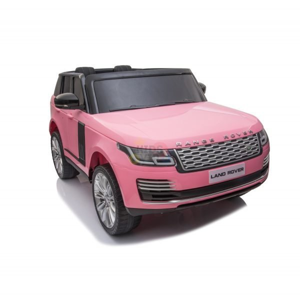 RANGE ROVER 2 SEAT RIDE ON CAR hse 2x12v rubber kids and toddlers pink 9