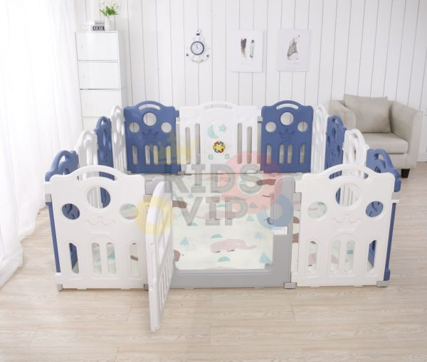 kidsvip 12panel toddlers fencecrown blue 2