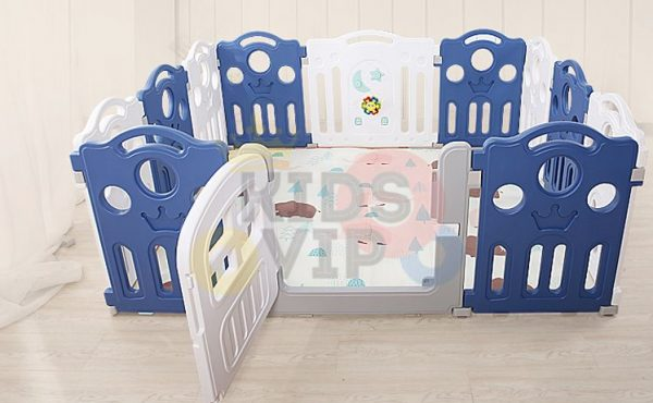 kidsvip 12panel toddlers fencecrown blue 3
