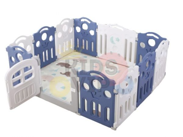 kidsvip 12panel toddlers fencecrown blue 4
