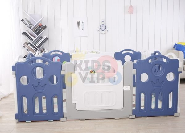 kidsvip 12panel toddlers fencecrown blue 5