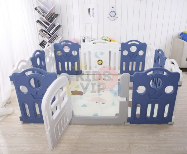 kidsvip 12panel toddlers fencecrown blue 6