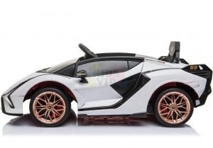 lamborghin 4wd 4x4 kids and toddlers ride on sport sian car 12v leather ruber kidsvip 11
