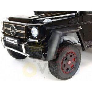 mercedes benz 6x6 kids ride on car truck 2 seats kids toddlers 12v rubber wheel kidsvip 11
