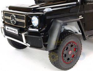 mercedes benz 6x6 kids ride on car truck 2 seats kids toddlers 12v rubber wheel kidsvip 31