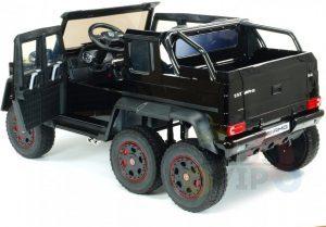 mercedes benz 6x6 kids ride on car truck 2 seats kids toddlers 12v rubber wheel kidsvip 39 1