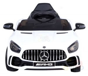 mercedes gt kids ride on car toddlers 12v rubber wheels leather seat white 13 1