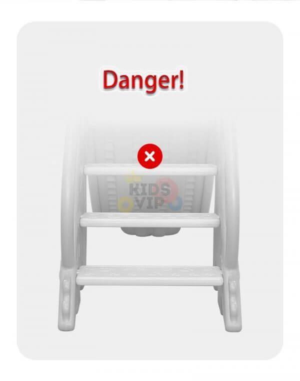 kidsvip 5 in 1 toddlers infants swing slide football basketball playground indoor outdoor set blue 1