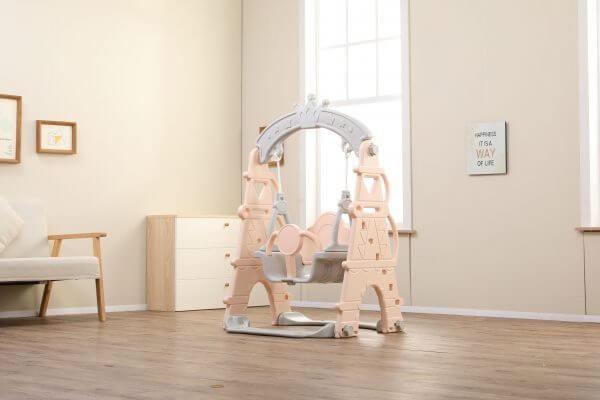 kidsvip indoor outdoor kids toddlers baby swing crown tower pink 13 scaled