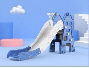 kidsvip kids toddlers infants indoor outdoor caste slide full step blue 4