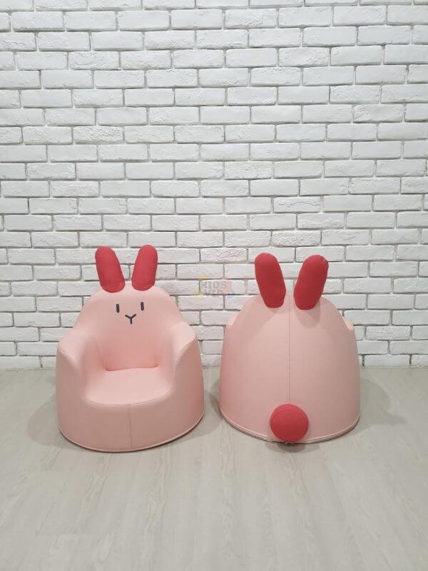 kidsvip leatther sofa chair pu pink bunny 1
