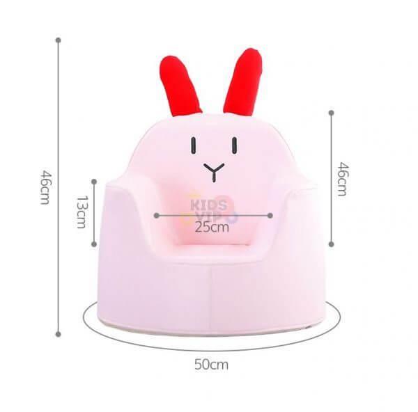 kidsvip leatther sofa chair pu pink bunny 10