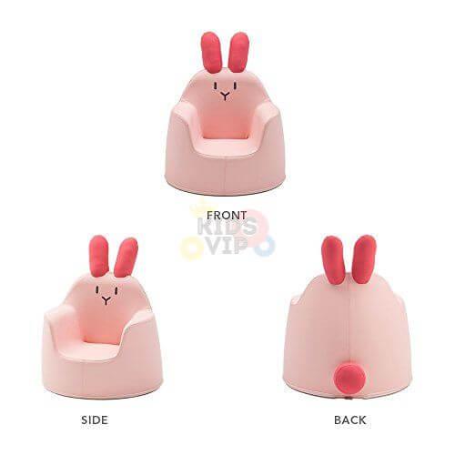 kidsvip leatther sofa chair pu pink bunny 20
