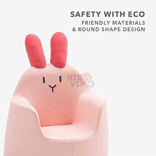 kidsvip leatther sofa chair pu pink bunny 21