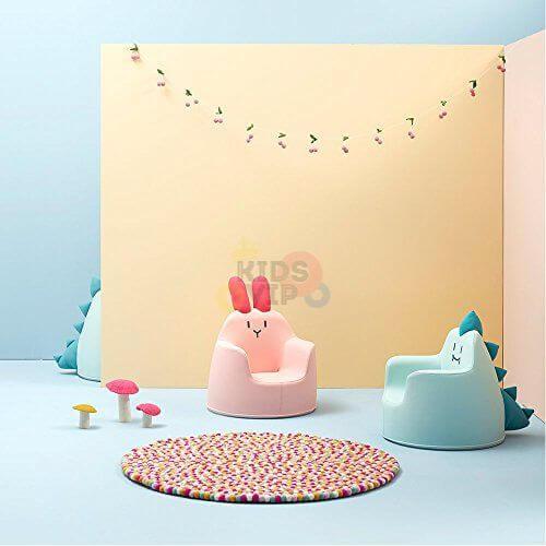 kidsvip leatther sofa chair pu pink bunny 24