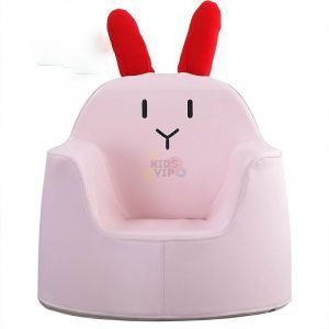 kidsvip leatther sofa chair pu pink bunny 7