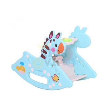 kidsvip rocking deer zeebra chair toddlers infants blue 16