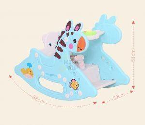 kidsvip rocking deer zeebra chair toddlers infants blue 17