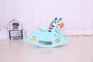kidsvip rocking deer zeebra chair toddlers infants blue 2