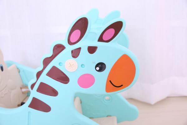 kidsvip rocking deer zeebra chair toddlers infants blue 8