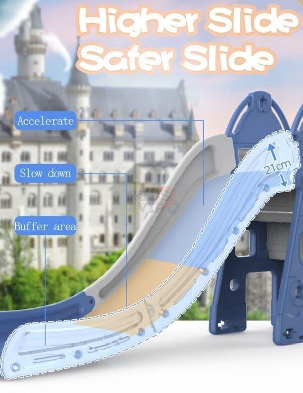 kidsvip tower swing slide basketball kids toddlers infants blue 7