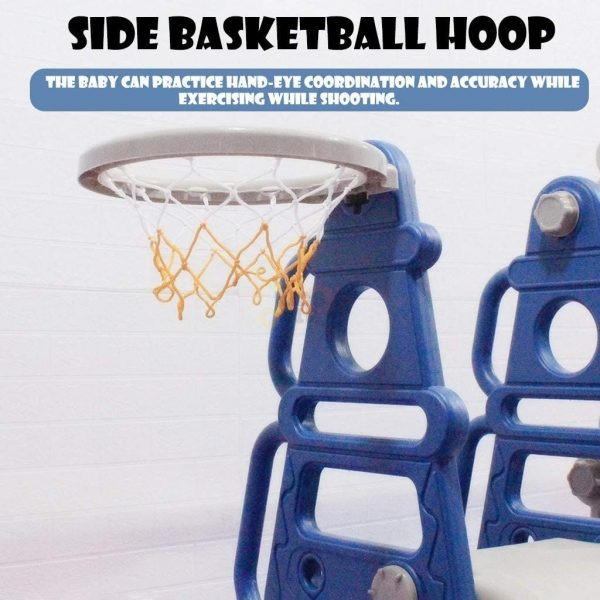 kidsvip tower swing slide basketball kids toddlers infants blue 9