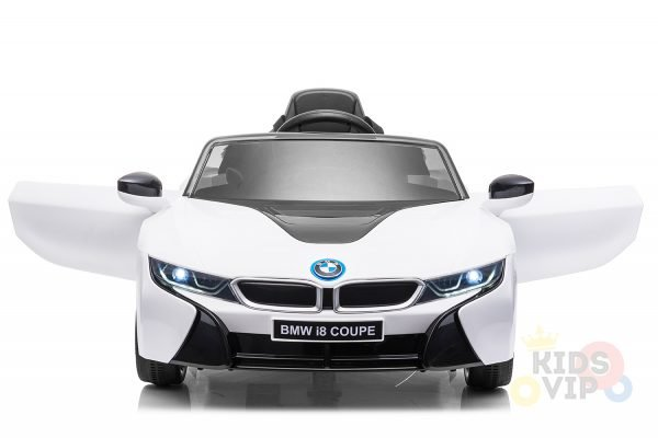 bmw i8 coupe kids and toddlers ride on car 12v remote kidsvip white 18