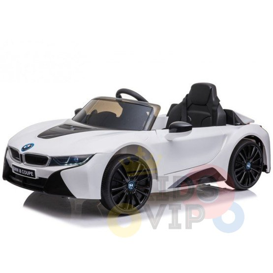 bmw i8 coupe kids and toddlers ride on car 12v remote kidsvip white 19