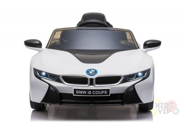 bmw i8 coupe kids and toddlers ride on car 12v remote kidsvip white 27