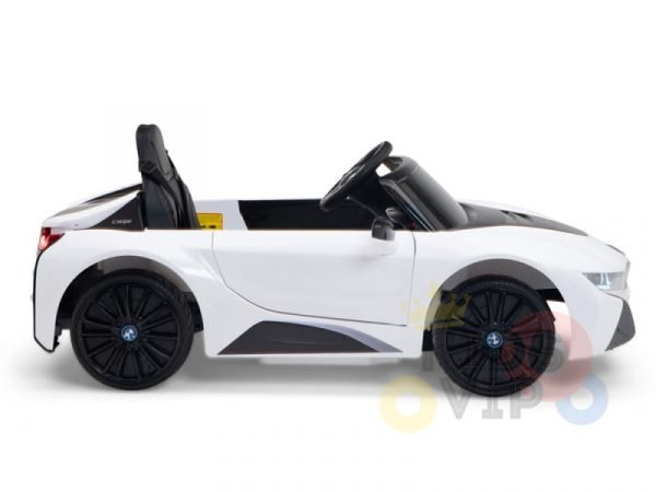 bmw i8 coupe kids and toddlers ride on car 12v remote kidsvip white 31