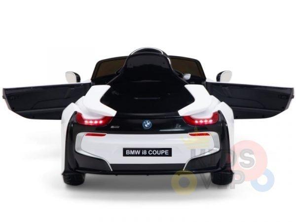 bmw i8 coupe kids and toddlers ride on car 12v remote kidsvip white 33