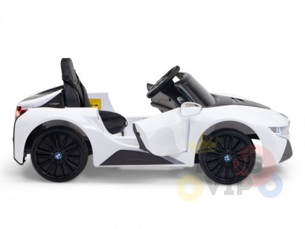 bmw i8 coupe kids and toddlers ride on car 12v remote kidsvip white 34
