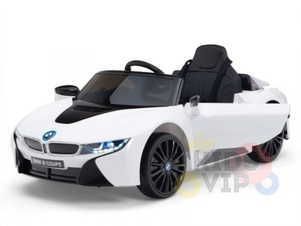 bmw i8 coupe kids and toddlers ride on car 12v remote kidsvip white 38