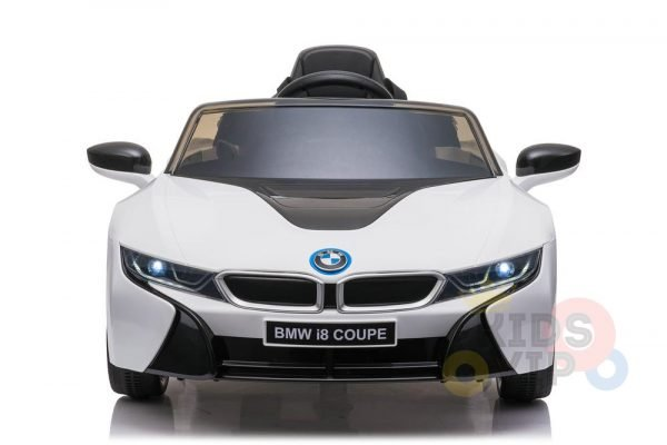bmw i8 coupe kids and toddlers ride on car 12v remote kidsvip white 40