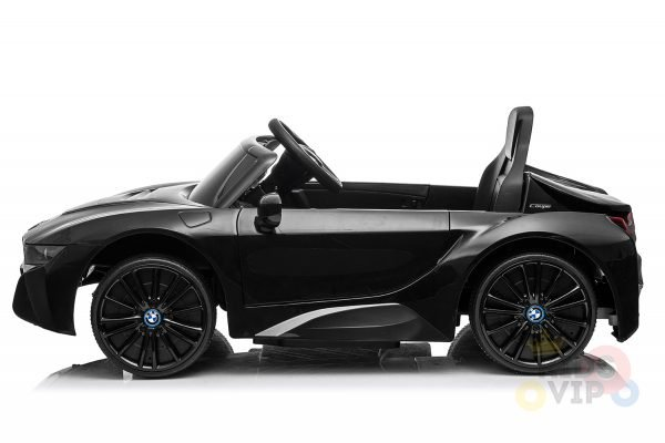 kids and toddlers bmw i8 ride on car 12v leather seat rubber wheels kids vip black 20