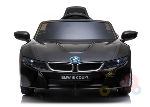 kids and toddlers bmw i8 ride on car 12v leather seat rubber wheels kids vip black 5