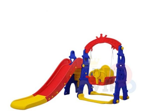 kids toddlers swing slide playset crown kidsvip colorfull 1