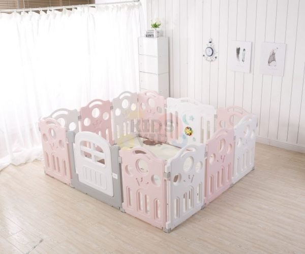 kidsvip 12panel toddlers fence crown pink 2