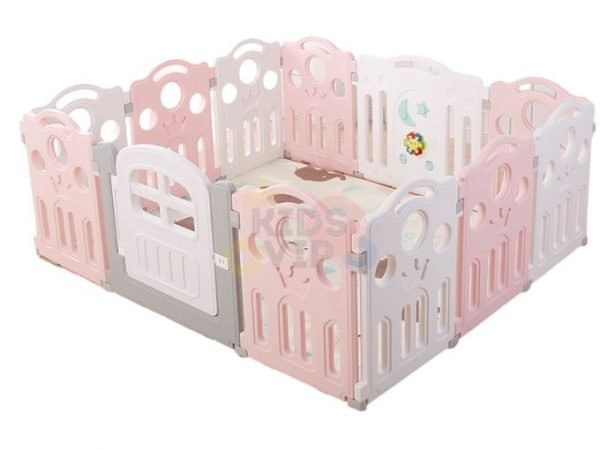 kidsvip 12panel toddlers fence crown pink