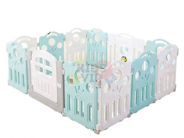 kidsvip 12panel toddlers fencecrown green 1