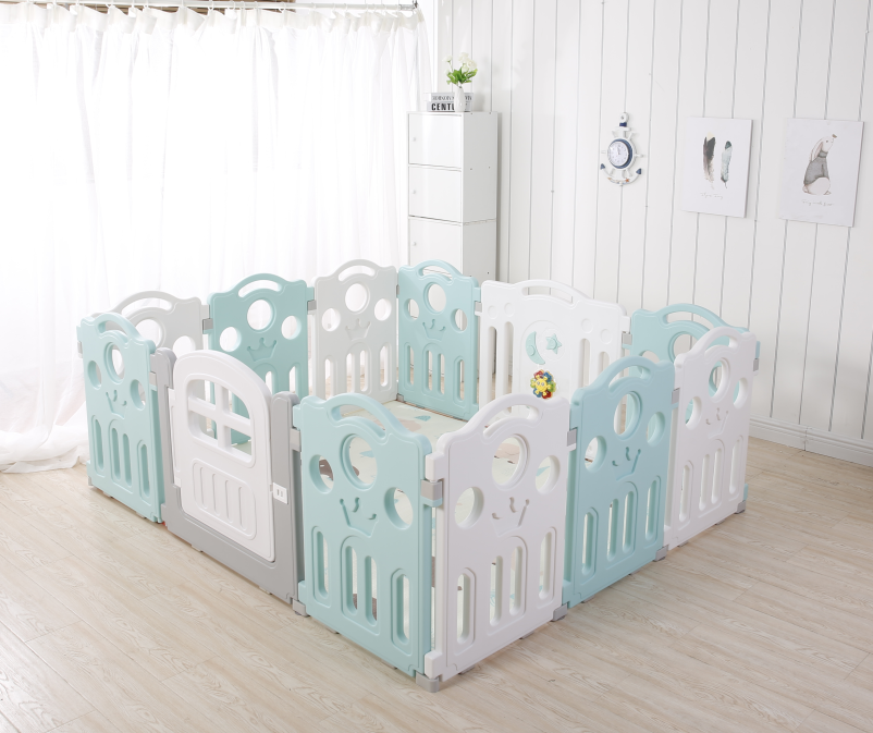 kidsvip 12panel toddlers fencecrown green 2