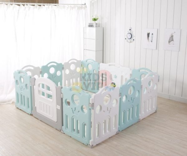 kidsvip 12panel toddlers fencecrown green 3