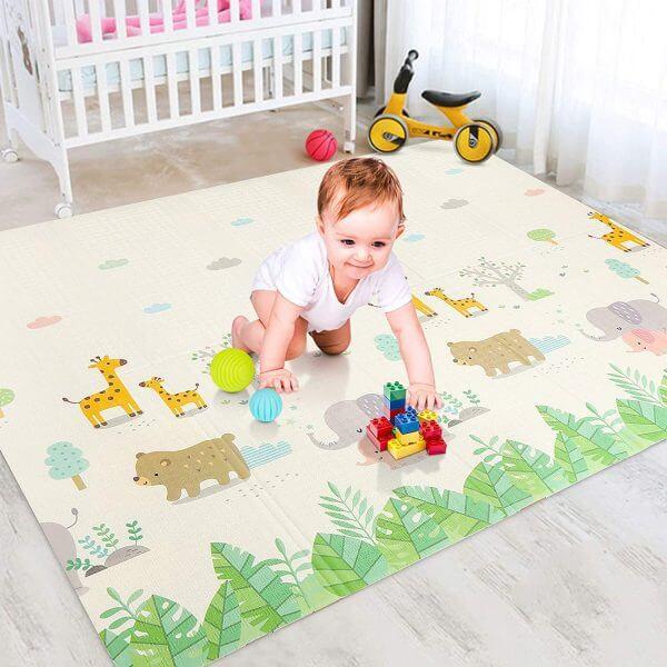 kidsvip foldable 2 sides kids toddlers mat craweler abc 15