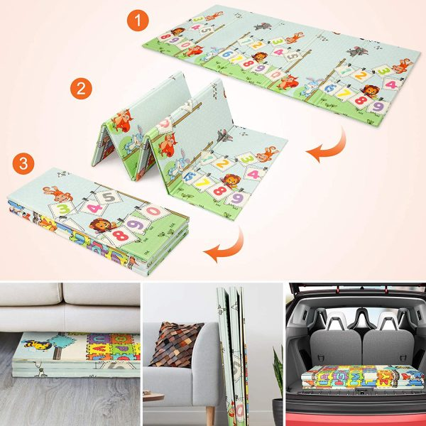 kidsvip foldable 2 sides kids toddlers mat craweler pazel 6