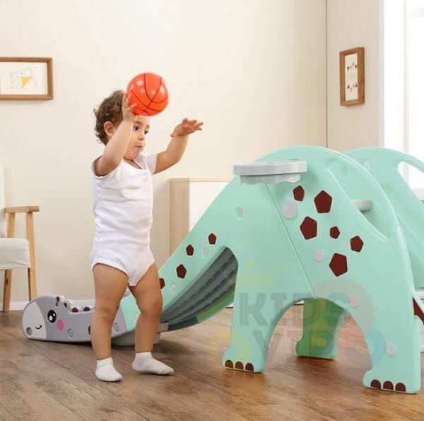 kidsvip giraffe slide kids toddlers indoor outdoor turquize 6