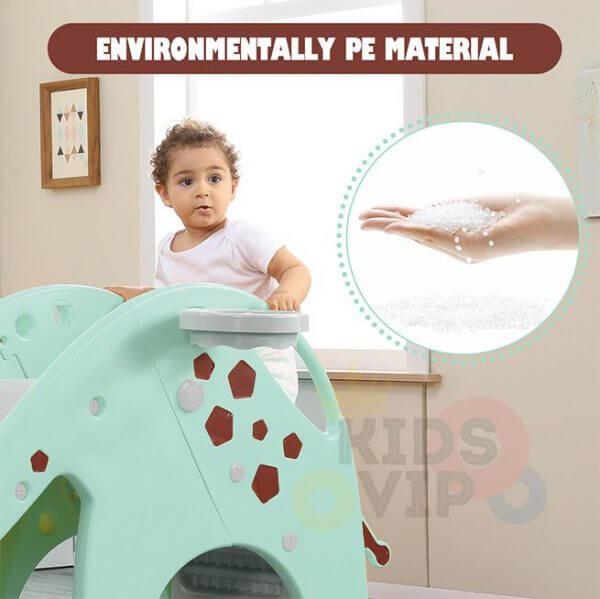 kidsvip giraffe slide kids toddlers indoor outdoor turquize 7