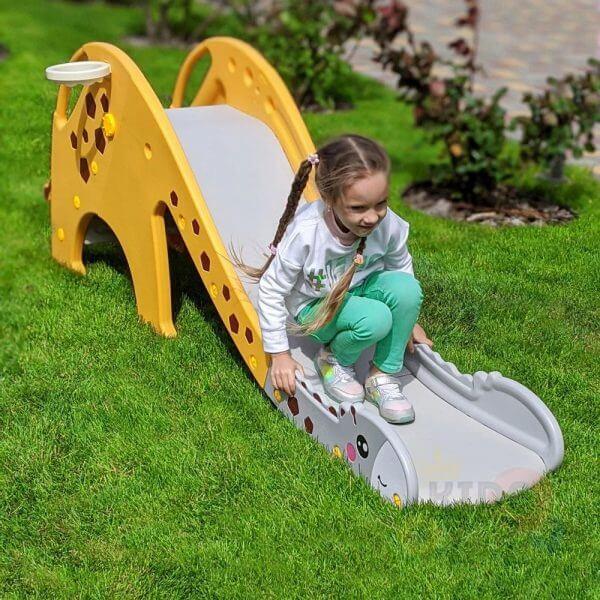 kidsvip giraffe slide kids toddlers indoor outdoor yellow 1