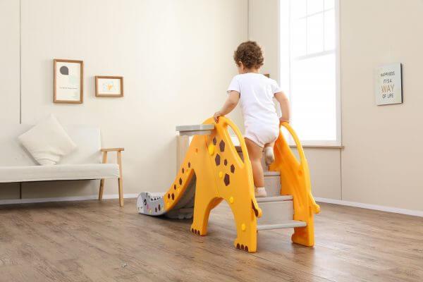 kidsvip giraffe slide kids toddlers indoor outdoor yellow 10 scaled