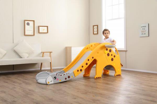 kidsvip giraffe slide kids toddlers indoor outdoor yellow 11 scaled